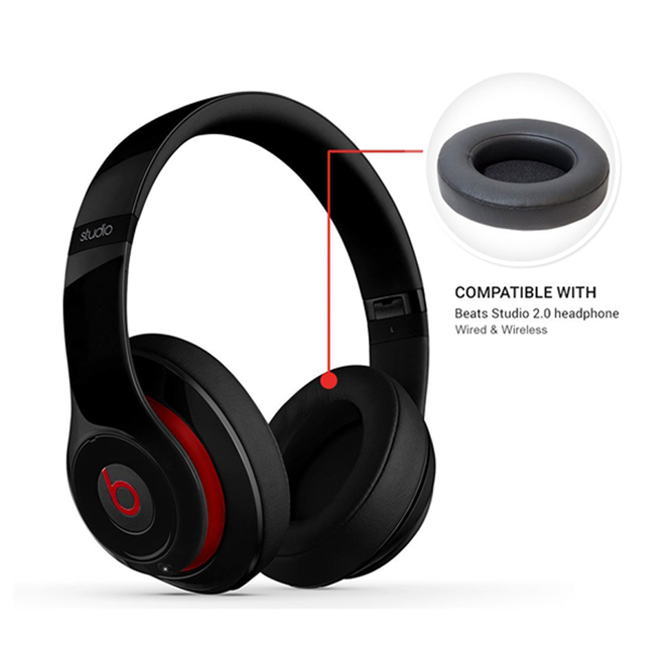 replacement ear pads cushion for beats by dr dre studio 2 0 wireless headphone ebay. Black Bedroom Furniture Sets. Home Design Ideas