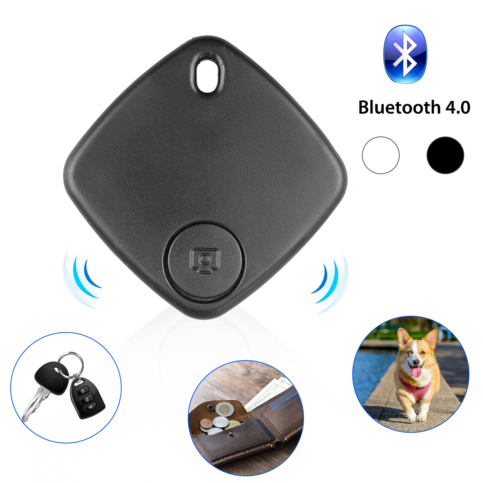 GPS Mini Tag Smart Tracker Bluetooth Wallet Key Finder Locat