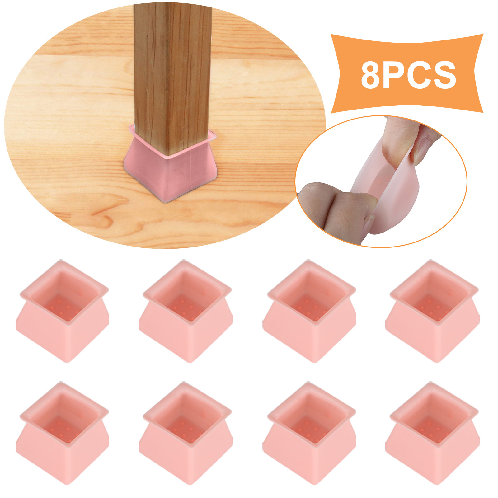 4//8//16pcs Chair Leg Silicone Pad Furniture Table Feet Cover Caps Floor Protector