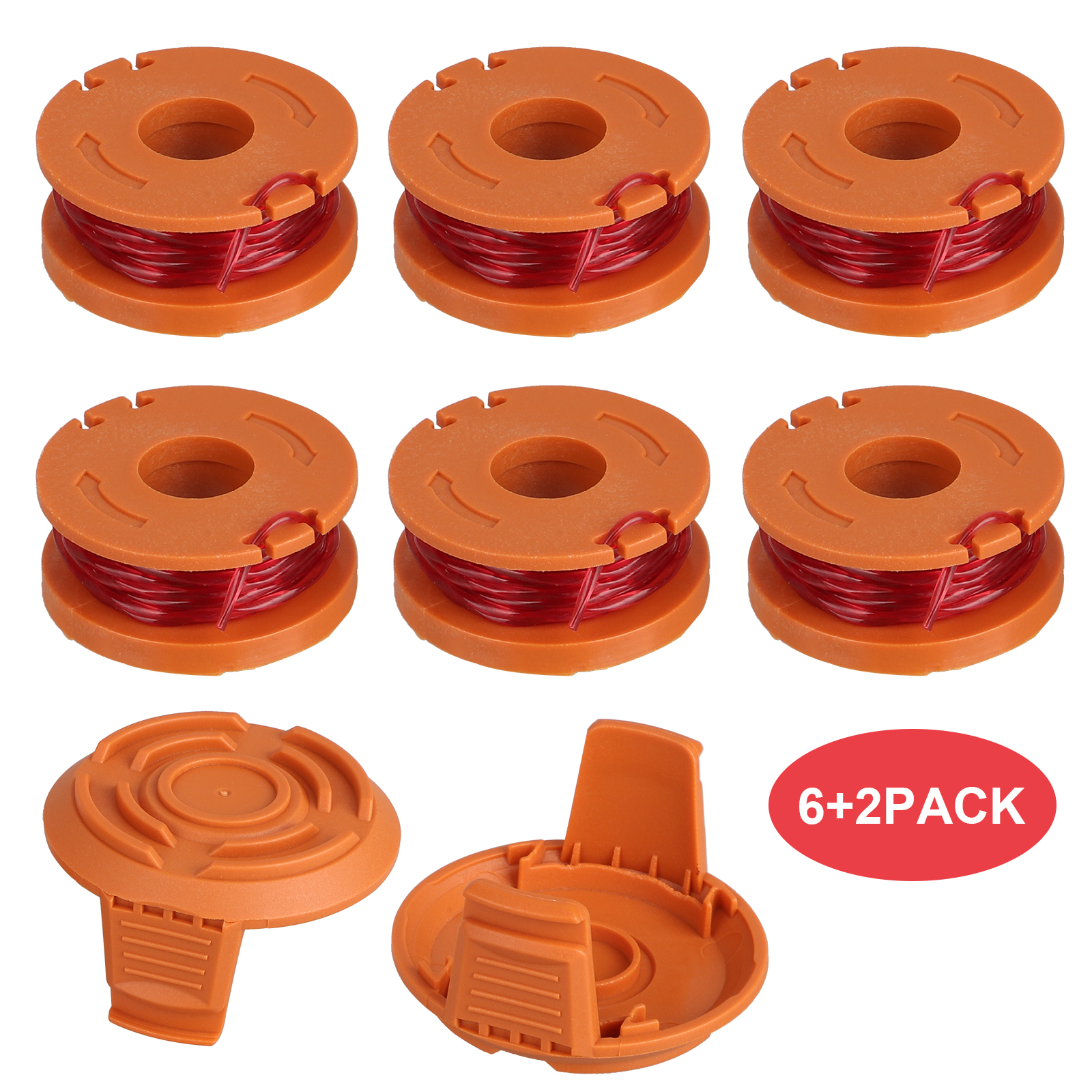 WORX WA0010 Replacement Grass Trimmer Spool Line+Spool Cap C