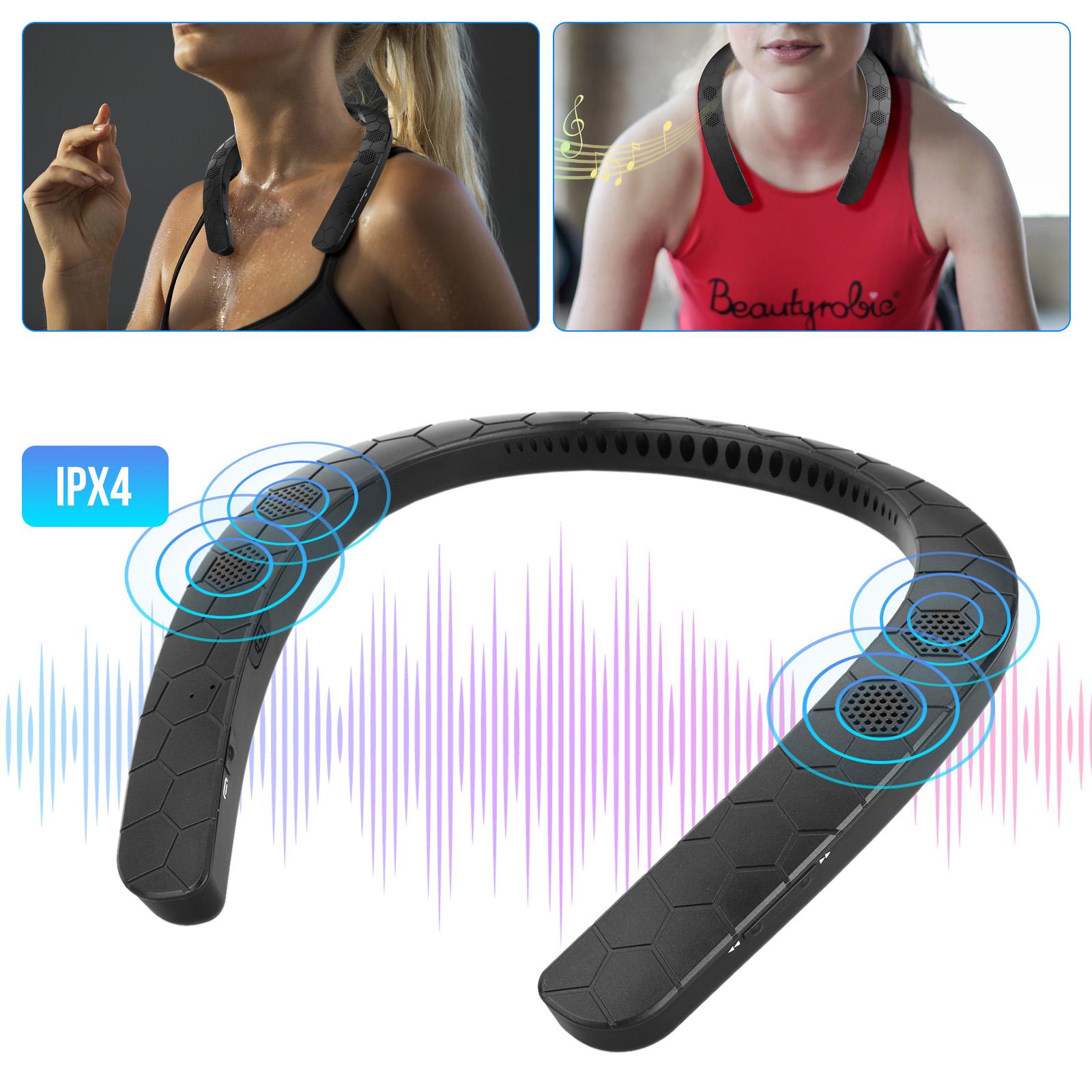 BT Wireless Neckband Neck Speaker Stereo Music Sports Speake