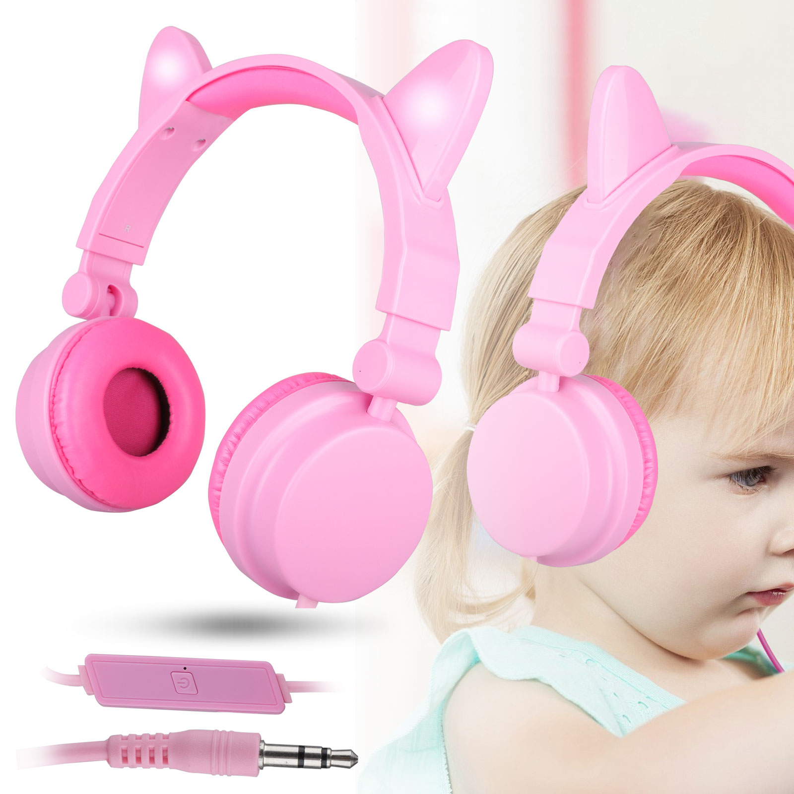 Kids Over Wired Ear Headphones Adjustable Headband Boys Girl