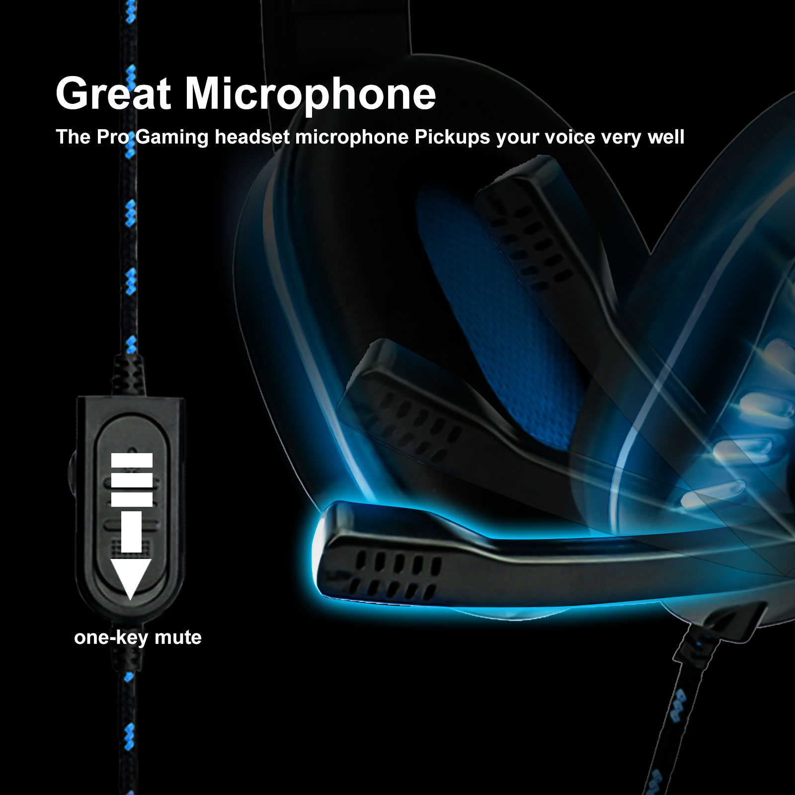 3.5mm Gaming Headset Mic LED Headphones Stereo Surround For PC PS4 Xbox ONE iPad 6