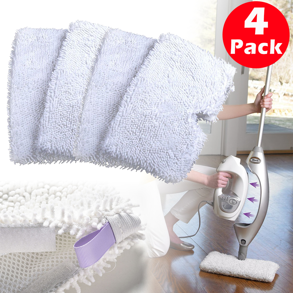 4 Pack Microfiber Pads Replacement For Shark Steam Mops